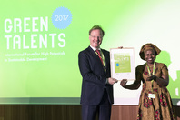 General Director Matthias Graf von Kielmansegg and Green Talent Precious Akampumuza