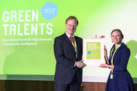 General Director Matthias Graf von Kielmansegg and Green Talent Katherine Berthon