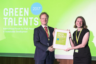 General Director Matthias Graf von Kielmansegg and Green Talent Hannah Harrison