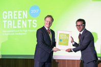 General Director Matthias Graf von Kielmansegg and Green Talent Anup K C