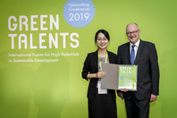 Parliamentary State Secretary Dr Michael Meister and Green Talent Sai Ma