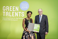 Parliamentary State Secretary Dr Michael Meister and Green Talent Georgina Esi Takyi-Annan