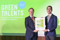 General Director Matthias Graf von Kielmansegg and Green Talent Enayat A. Moallemi