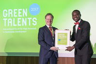 General Director Matthias Graf von Kielmansegg and Green Talent Chukwuebuka Christopher Okolo