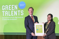 General Director Matthias Graf von Kielmansegg and Green Talent Pratiksha Srivastava