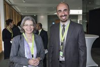 Manuela Rettweiler (UMSICHT) and Green Talent Zeyad Al-Shibaany
