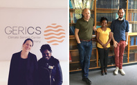 Precious Akampumuza meets Dr Juliane Otto at GERICS in Hamburg and Dr Fred Hattermann at PIK Potsdam, October 2017.