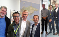 Anup K C visting Prof. Thomas Bausch, Prof. Kolbeck, Prof. Daniel Metzler at Munich University of Applied Sciences (MUAS), Prof. Gordon Winder and Prof. Jürgen Schmude at Ludwig-Maximilians-Universität (LMU) during his individual appointments, Oct 2017.