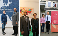 Zeyad AL-Shibaany with Ms Jadwiga Zurad at ZNU - University Witten/Herdecke, Prof. Dr Kerstin Martens at University Bremen - InIIS and Dr Babette Never at German Developmet Institute (DIE) during his individual appointments in October 2017.