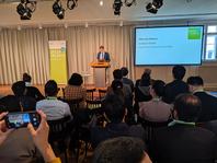BMBF representative Dr Bjoern Schulte welcomes the Green Talents 2019 and selected Green Talents alumni to the Green Talents Networking Conference 2019 in Berlin