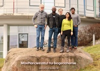 Nsilulu Tresor Mbungu with his supervisor Dr Axel Kleidon and research team at Max Planck Institute for Biogeochemistry in Jena, 2019.