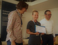 Megan Lukas was awarded a certificate of participation at the Sustainable Entrepreneurship International Summer School by Prof Frank Belz and the Dean of International Relations at TUM during her research stay, 2018.