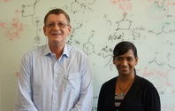 Mita Dasog together wih her supervisor Professor Bernhard Rieger at  TUM Department of Chemistry