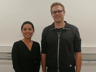 "Nirina Khadgi with her supervisor Dr Oliver Knoop (team lader of research group ""Trace Compounds in the Environment"") during her 3 months research stay at the Chair of Urban Water Systems Engineering at Technical University of Munich (TUM), 2019."