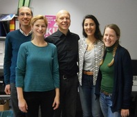 Larissa Marchiori Pacheco with Professor Stefan Gößling-Reisemann and his team during her individual appointment at University of Bremen in October 2015.