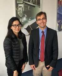 Wai Fen Yong during her individual appointment with Prof. Dr Stefan Kaskel at Fraunhofer IWS in Winterbergstr, Oct 2016.