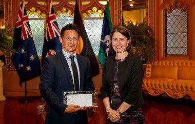 Brett Hallam won a prestigious NSW Premier's Prize for Science and