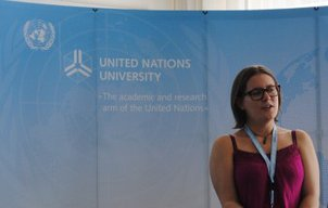Green Talent 2012 Sarah Nash at the UNU training school in Bonn.