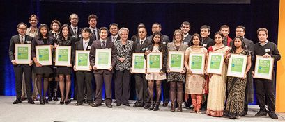 The Green Talents 2012 receive their awards by Federal Minister Prof. Dr. Annette Schavan