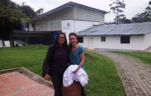 Sandra Zapata with German PhD student Johana Brauch